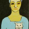 Woman with Little White Dog 2005 20' x 36'