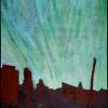 "Northern Lights Over Keno City 2008 32"" x 48"""
